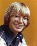 John Denver Orange Background Close Up Portrait Photo by  Movie Star News