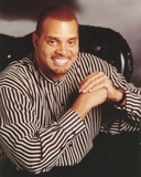 Sinbad Posed in Stripe Long Sleeve Portrait Photo by  Movie Star News