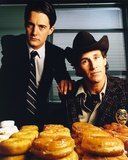 Twin Peaks Portrait With Donut Photo by  Movie Star News