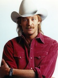 Alan Jackson wearing Red Long Sleeves in Close Up Portrait Foto von  Movie Star News