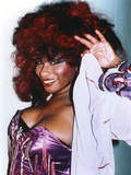 Chaka Khan Pose in Lingerie with Coat Foto af  Movie Star News