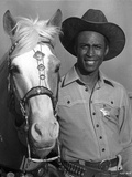 Cleavon Little Posed in Cowboy Outfit With Horse Foto af  Movie Star News