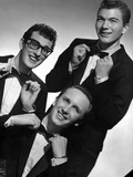 Buddy Holly Posed in Suit With White Background Foto af  Movie Star News