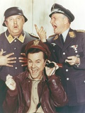Hogan's Heroes Man in Leather Jacket with Two Men in Army Suit Photo by  Movie Star News