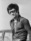 Bruce Lee posed in Classic Portrait Photo by  Movie Star News