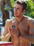 Chris Evans Topless Portrait Photo by  Movie Star News