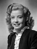 Gloria DeHaven Curly Hair smiling wearing Black Coat Foto av  Movie Star News