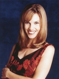 Hilary Swank smiling in Portrait Photo by  Movie Star News