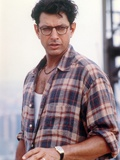 Jeff Goldblum Posed in Brown Checkered Polo and Wrist Watch on the Left Hand Photographie par  Movie Star News