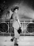 Janis Paige on a Dress standing and smiling Foto af  Movie Star News
