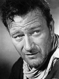 John Wayne wearing a Scarf in a Close Up Portrait Foto van  Movie Star News