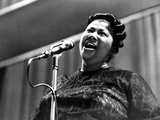 Mahalia Jackson singing in Classic Photo by  Movie Star News