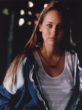 Leelee Sobieski Posed in Blue Jacket Portrait Foto af  Movie Star News