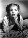Margaret O'brien on a Printed and Praying Photo by  Movie Star News