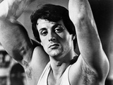 Sylvester Stallone wearing a Tank Top and Hands Raised Foto di  Movie Star News