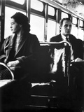 Rosa Parks sitting on a Public Vehicle Fotografía por  Movie Star News