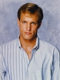 Woody Harrelson Portrait in Pale Blue Collar Shirt Foto von  Movie Star News