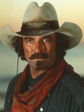 Tom Selleck wearing Green Sleeves with Red Scarf with Hat Photo by  Movie Star News