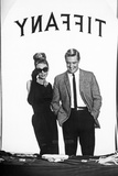 Audrey Hepburn and George Peppard in Tiffany's Window Foto af  Movie Star News