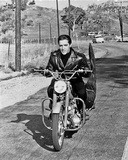 Elvis Presley Riding in Classic Photo by  Movie Star News