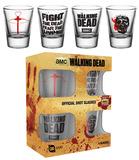 The Walking Dead Symbols Shot Glass Set Gadget