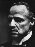 Marlon-GF Brando Scene with an Old Man Close Up Portrait in Black and White Foto von  Movie Star News