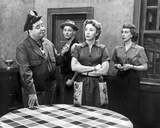 Honeymooners Lady Crossing Arms on Abdomen and Sheriff Talking Photo by  Movie Star News