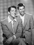 Dean Martin and Jerry Lewis Scene with Two Men smiling in Plaid Suit Fotografia por  Movie Star News