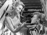 Bye Bye Birdie Lady in Printed Dress Talking to a Man in Polo Photo by  Movie Star News