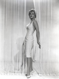 Stella Stevens Posed wearing White Dress in Black and White Portrait Photo by  Movie Star News