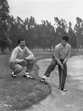 Dean Martin and Jerry Lewis Playing Golf in Classic Portrait Fotografía por  Movie Star News