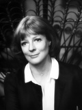 Maggie Smith smiling in Black and White Dress Portrait Foto af  Movie Star News