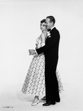Portrait of Audrey Hepburn and Fred Astaire Dancing in White Background Foto di  Movie Star News