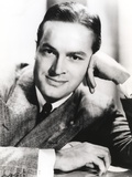 Bob Hope Head Leaning on Hand wearing Formal Coat Portrait Foto av  Movie Star News