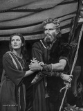 Ten Commandments Portrait of Moses in Black and White Foto van  Movie Star News