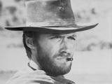 Clint Eastwood Fighting Stunts in Topless Portrait Foto af  Movie Star News