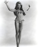 Julie Newmar Posed wearing polka dot Lingerie Portrait Photo by  Movie Star News