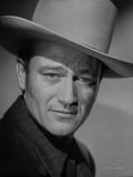 John Wayne wearing a White Hat in a Close Up Portrait Foto van  Movie Star News
