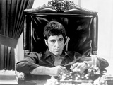 Al Pacino Siting on Chair Black and White Portrait Foto van  Movie Star News