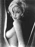 Stella Stevens Topless in Black and White Portrait Photo by  Movie Star News