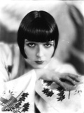 Louise Brooks Posed in White Printed Dress Portrait Photo by  Movie Star News