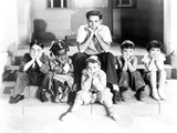 Our Gang Group Leaning Chin on Hands in Classic Photo by  Movie Star News