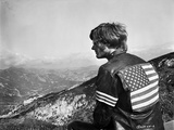 Easy Rider Seated in American Flag Jacket Photo by  Movie Star News