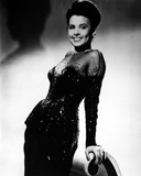 Lena Horne posed in Black Gown with Gloves Photo by  Movie Star News