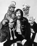 Muppets Group Picture Black and White Portrait Photo by  Movie Star News