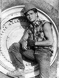 Patrick Swayze Posed in Construction Outfit Foto af  Movie Star News