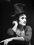 Marcel Marceau Posed in Black Background Photo by  Movie Star News
