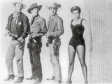 Rio Bravo Group Picture in Black and White Foto van  Movie Star News