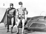 Batman with Robin in Classic Portrait Foto von  Movie Star News