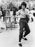 Bruce Lee in A Fighting Pose Foto von  Movie Star News